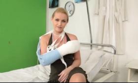 Sensual blonde nurse, Cortez Steele fucked her best friend who was wearing a very sexy uniform