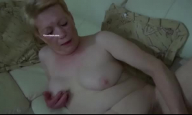 Horny granny with long hair is getting filled up with a rock hard meat stick