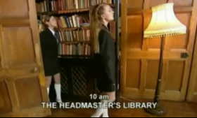 Two sexy schoolgirls are having FeteTe, it starts with sucking their horny teacher's big tool