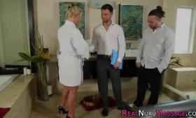 Busty masseuse doggyjob pregrod