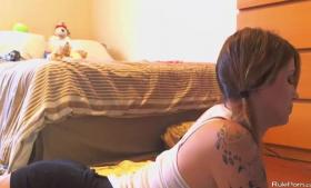 Milk deep pigtailed JAV MILF fucked by her horny boyfriend