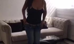 Busty Undressing her fuckable ass