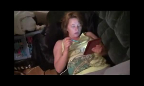 Sexy Allure wife deepthroating cocks during massage