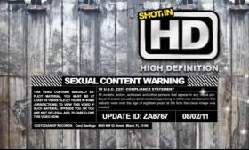 Hazed girls ass gets soaked
