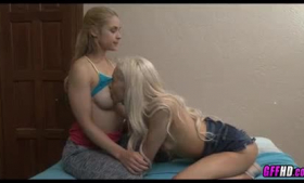 Mature blonde dykes licking up and wanking