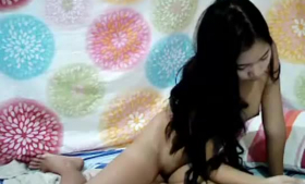Asian woman, Lovely Rose is getting her pussy licked while her husband is watching her in action