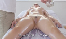 Tattooed brunette, Adria Rae got a nice massage she all deserved and then she sucked dick