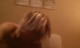 Blonde whore is having sex while her soon to be husband watches her in action