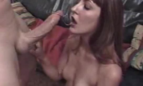Suzanne is having a threesome sex with some very horny guys and getting her pussy licked