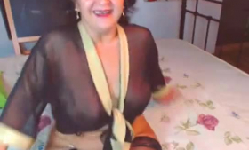 Mature mom with big, firm tits and her very handsome son are fucking like crazy in bed