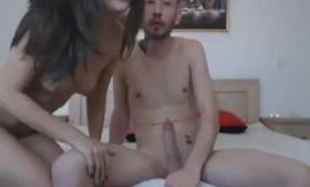 Pretty chick is fucked hard in the back of a van and moaning from pleasure while cumming