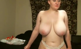Sensual blonde with big, firm tits is getting fucked and creampied like never before