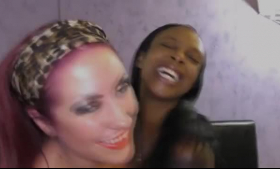 Ebony chick, Lola is seducing her client and making him swallow loads of fresh cum