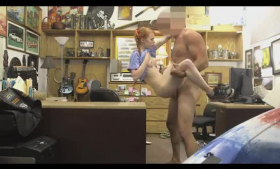 Dolly Little and Max are making love with each other and using a strap- on a lot