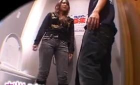 Charming Japanese Tgirl Slammed On The Floor by Dildo