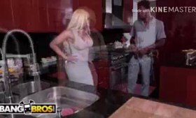 Luna Star is a slutty Latina milf who likes to take a huge dick gently in her tight ass