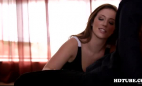 Hot brunette Maddy O'Reilly gets caught in 3some