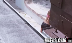 Jojo Kiss appetizing milf tranny fingered by gloryhole anal toys