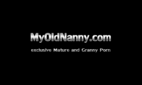 Blonde granny with black hair and big tits is getting nailed in a POV style, here in the morning