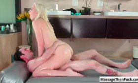 Chloe Cherry blonde hottie taken from behind to fuck with strapon