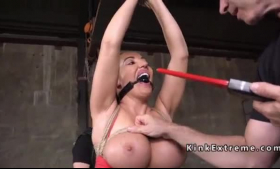 Chrysti Zaberry is gently sucking a big dick, to make it hard enough for her pussy