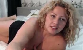 Lovely blonde with firm ass, Emma Hix does a good job with a massive cock