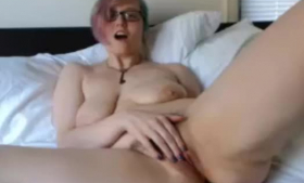 Nasty milf playing a hardcore porn featuring her very lucky husband
