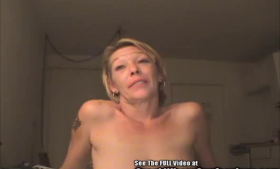 Nasty blonde mature starriding with her boy theero
