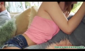Lily Jordan and Abella Danger are making love and getting ready to have a threesome