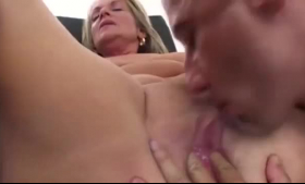 Horny housemaid letting her boss fuck her balls on the table