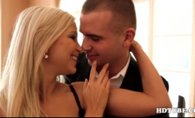 Glam business lady is having anal sex with a guy they both like a lot