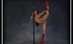 Flexible cutie channels Serena Blair on L Comp mmf threesome