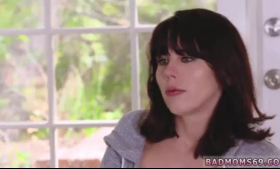 Blair Williams with huge knockers handles white dick