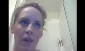 Blue eyed blonde milf is getting her partner's hard dick in her messy slit, at the same time