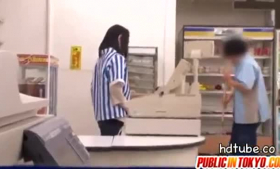Kinky amateur gets drilled in a storage room