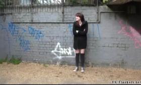 Brunette beauty daring for voyeur webcam
