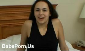 Pretty beauty flashing tits on cam