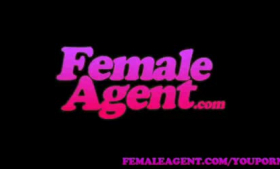 Female agent is thoroughly masturbating while getting in her office and enjoying it a lot