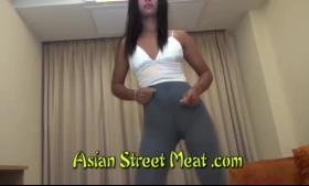 Hot Asian skank wanked banged extremely hard